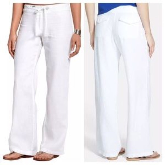 c599f3f0f2 Tommy Bahama Pants | Nwt White Two Palms Leigh Linen | Poshmark